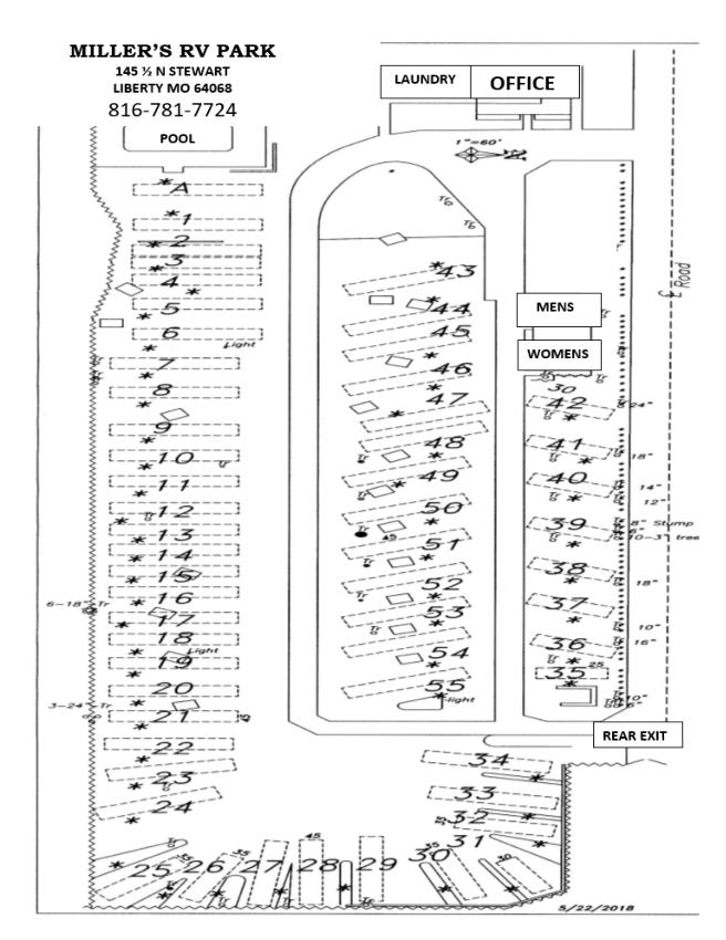 Millers Kampark Park Map 2019-20